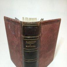 Libros de segunda mano: LA MESIADA POR FEDERICO G. KLOPSTOCK CECILIO NAVARRO. GRABADOS RELIGIOSOS. BARCELONA. 1873.. Lote 195306957