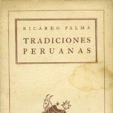 Libros de segunda mano: RICARDO PALMA. TRADUCCIONES PERUANAS. ED. ESPASA CALPE. BUENOS AIRES. 1988. PP. 188. Lote 195324252