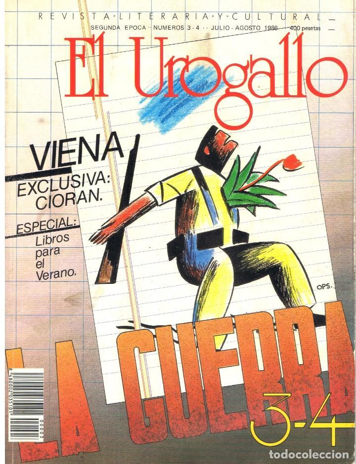 EL UROGALLO. REVISTA LITERARIA Y CULTURAL. Nº 3 - 4. JULIO-AGOSTO 1986 (Libros de Segunda Mano (posteriores a 1936) - Literatura - Narrativa - Otros)
