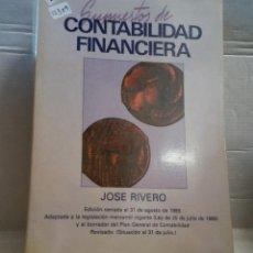 Libros de segunda mano: 12309 - SUPLEMENTOS DE CONTABILIDAD FINANCIERA - POR JOSE RIVERO - AGOSTO DE 1989. Lote 195356632
