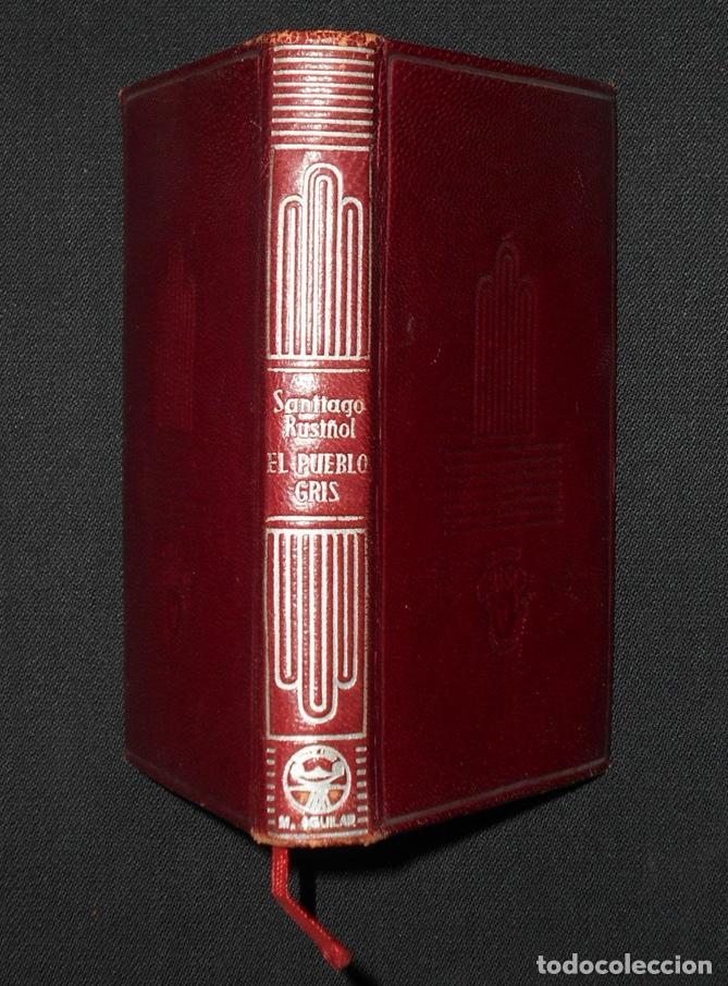 Libros de segunda mano: PCBROS - EL PUEBLO GRIS - SANTIAGO RUSIÑOL - ED. AGUILAR - COL CRISOL Nº 297 - 1ª ED. - 1950 - Foto 2 - 195390263