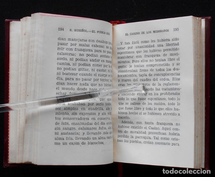 Libros de segunda mano: PCBROS - EL PUEBLO GRIS - SANTIAGO RUSIÑOL - ED. AGUILAR - COL CRISOL Nº 297 - 1ª ED. - 1950 - Foto 8 - 195390263