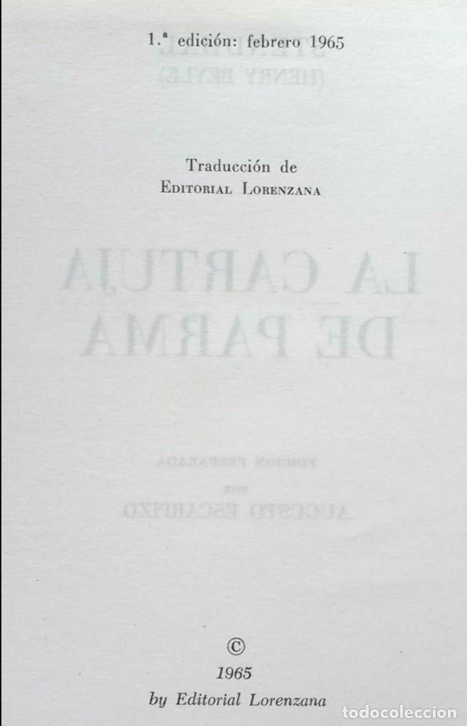 Libros de segunda mano: OBRAS DE STENDHAL - 8 TOMOS - ED. LORENZANA - 1964/68 - Foto 6 - 195390517