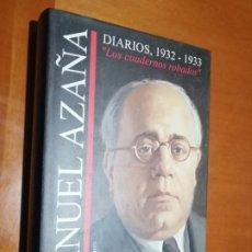 Libri di seconda mano: DIARIOS 1932-1933. MANUEL AZAÑA. CÍRCULO DE LECTORES. TAPA DURA. BUEN ESTADO. Lote 195438632