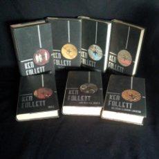 Libros de segunda mano: KEN FOLLETT - COLECCION DE 7 LIBROS - CIRCULO DE LECTORES EDICION ESPECIAL 2002. Lote 195449420