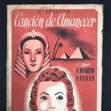Libros de segunda mano: CANCION DE AMOR - G. GASPAR BRUNED - 2ª EDICION DE 1946 - INTONSO!!!. Lote 195549557