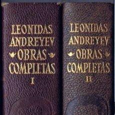 Libros de segunda mano: LEONIDAS ANDREYEV OBRAS COMPLETAS TOMOS I Y II PRIMERA EDICIÓN 1969 . Lote 195550282