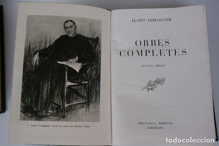 Libros de segunda mano: JACINTO VERDAGUER. OBRES COMPLETES, Biblioteca Selecta, EN CATALAN - Foto 2 - 195572788