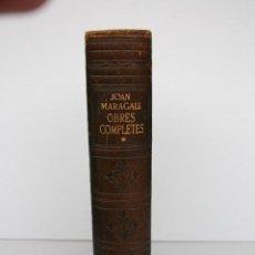 Libros de segunda mano: JOAN MARAGALL. OBRES COMPLETES. PROLEG DE JOSEP CARNER. EDITORIAL SELECTA 1960.. Lote 195574468