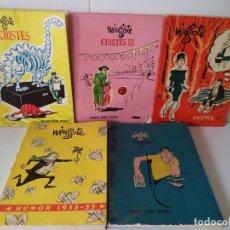 Libros de segunda mano: LOTE 5 TOMOS DE CHISTES DE ANTONIO MINGOTE.EDITORIAL PRENSA ESPAÑOLA,AÑOS 50.. Lote 195717687