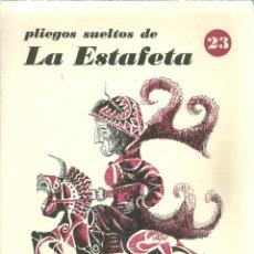 Libros de segunda mano: 1396.- PLIEGOS SUELTOS DE LA ESTAFETA Nº 23 - DICCIONARIO DE BRUJERIAS SEGUN LOS VIEJOS TRATADOS. Lote 198178276