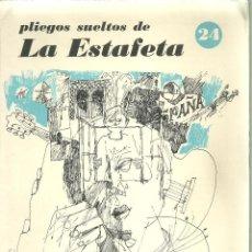 Libros de segunda mano: 1396.- PLIEGOS SUELTOS DE LA ESTAFETA Nº 24-EL POEMA DE UN NIÑO DE ESPAÑA-JOSE CARLOS GALLARDO. Lote 198178436