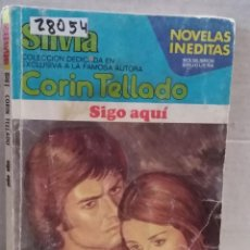 Livres d'occasion: 28053 - NOVELA ROMANTICA - CORIN TELLADO - COL SILVIA - SIGO AQUI - Nº 302. Lote 198291445