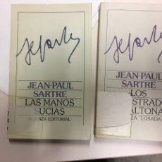 Libros de segunda mano: ALIANZA. PAUL SARTRE. LAS MANOS SUCIAS. LOS SECUESTRADOS DE ALTONA. Lote 198309061