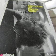 Libros de segunda mano: MEMORIAS DE LETICIA VALLE (ROSA CHACEL) - VOCES CRITICAS. Lote 199175120