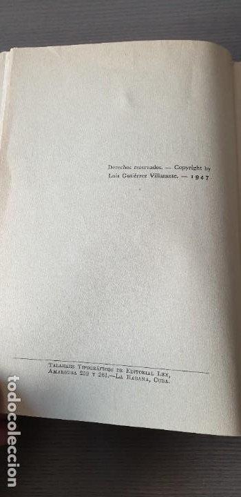 Libros de segunda mano: El diablo las carga - Luis Gutierrez Villasante - 1947 - Primera Edicion con dedicatoria del autor - Foto 2 - 200140981