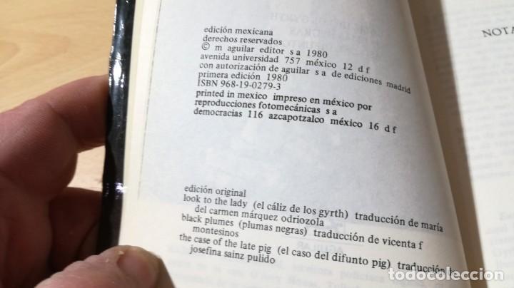 Libros de segunda mano: MARGERY ALLINGHAM NOVELAS ESCOGIDAS - CALIZ GYRTH - PLUMAS NEGRAS - CASO DIFUNTO PIG - AGUILAR - Foto 6 - 200813010