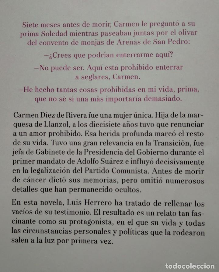 Libros de segunda mano: DEJÉ DE PRONUNCIAR TU NOMBRE - LUIS HERRERO...LA VIDA PROHIBIDA DE CARMEN DÍEZ DE RIVERA - Foto 2 - 201793210