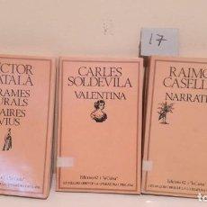 Livres d'occasion: LOTE DE 3 LIBROS EDICIONES 62 I LA CAIXA, LES MILLORS OBRES DE LA LITERATURA CATALANA.. Lote 201800393