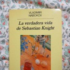 Libros de segunda mano: VLADIMIR NABOKOV LA VERDADERA VIDA DE SEBASTIAN KNIGHT. Lote 202285182