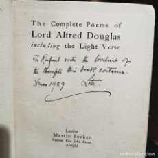 Libros de segunda mano: LIBRO - THE COMPLETE POEMS OF LORD ALFRED DOUGLAS INCLUDING THE LIGHT VERSE / 11.682. Lote 222890743