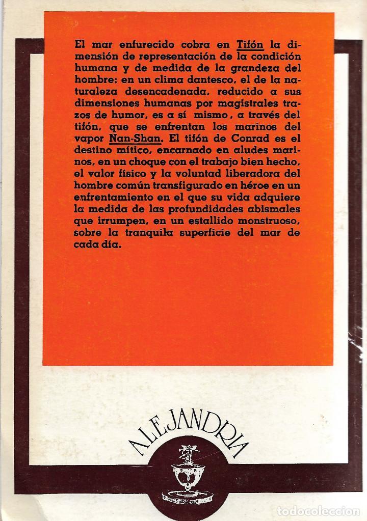 Libros de segunda mano: TIFON, Joseph Conrad - Foto 2 - 202368628