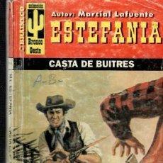 Libros de segunda mano: NOVELA DE ESTEFANIA EDICIÓN BRONCO DEL OESTE TITULO CASTA DE BUITRES Nº114 UNA ESTRELLA. Lote 202669277