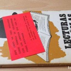 Libros de segunda mano: LECTURAS ESPAÑOLAS - AZORIN - CURIOSA PEGATINA ATENTADOS LIBREROS / ESQ-302. Lote 203192851