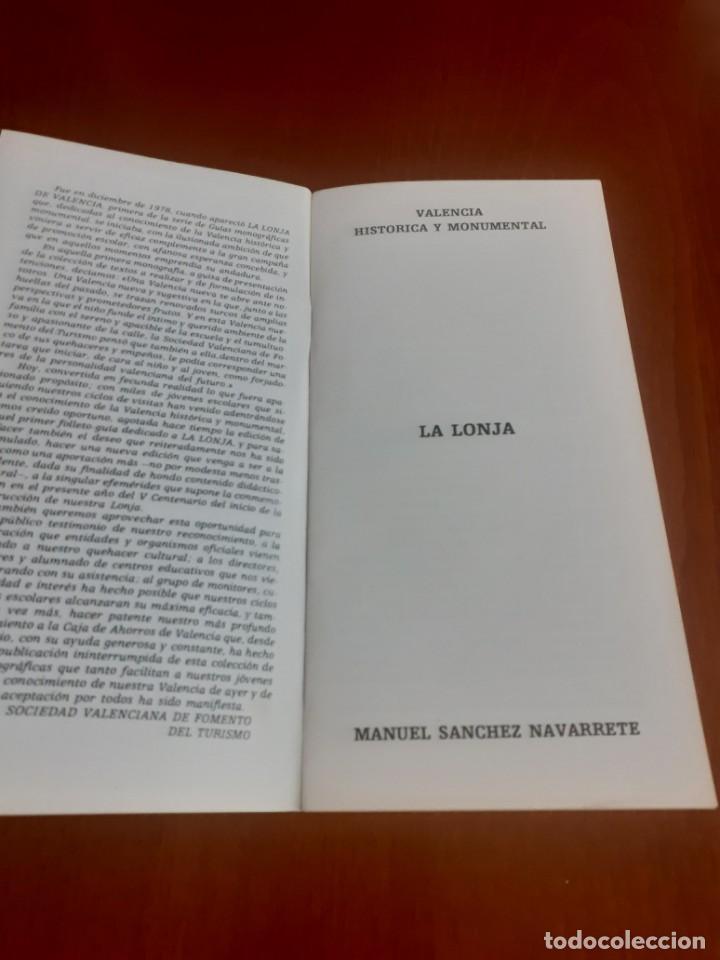 Libros de segunda mano: Folleto Edicion conmemorativa del 5º centenario de la Lonja de Valencia (1483-1983) - Foto 2 - 203230160