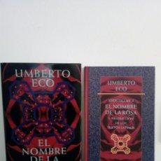 Livres d'occasion: LOTE DOS LIBROS - EL NOMBRE DE LA ROSA Y APOSTILLAS - UMBERTO ECO - CIRCULO DE LECTORES 1997. Lote 204095295
