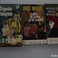 Libros de segunda mano: EUGENIO ONIEGUIN - ENTRE LA VIDA Y EL SUEÑO - EL PECADO DEL MUNDO. Lote 205126432