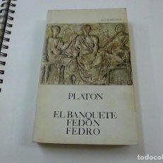 Livres d'occasion: PLATÓN - EL BANQUETE - FEDÓN - FEDRO - 1988 -GUADARRAMA - N 8. Lote 205143651