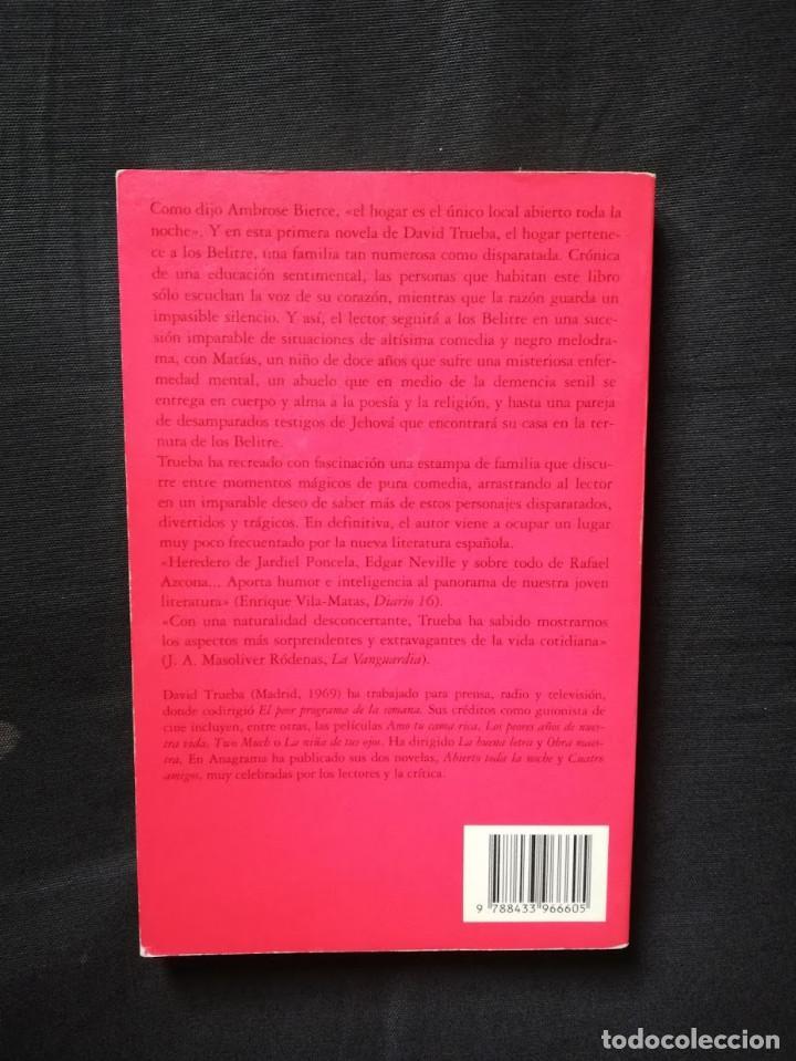 Libros de segunda mano: ABIERTO TODA LA NOCHE - DAVID TRUEBA - Foto 2 - 205183983