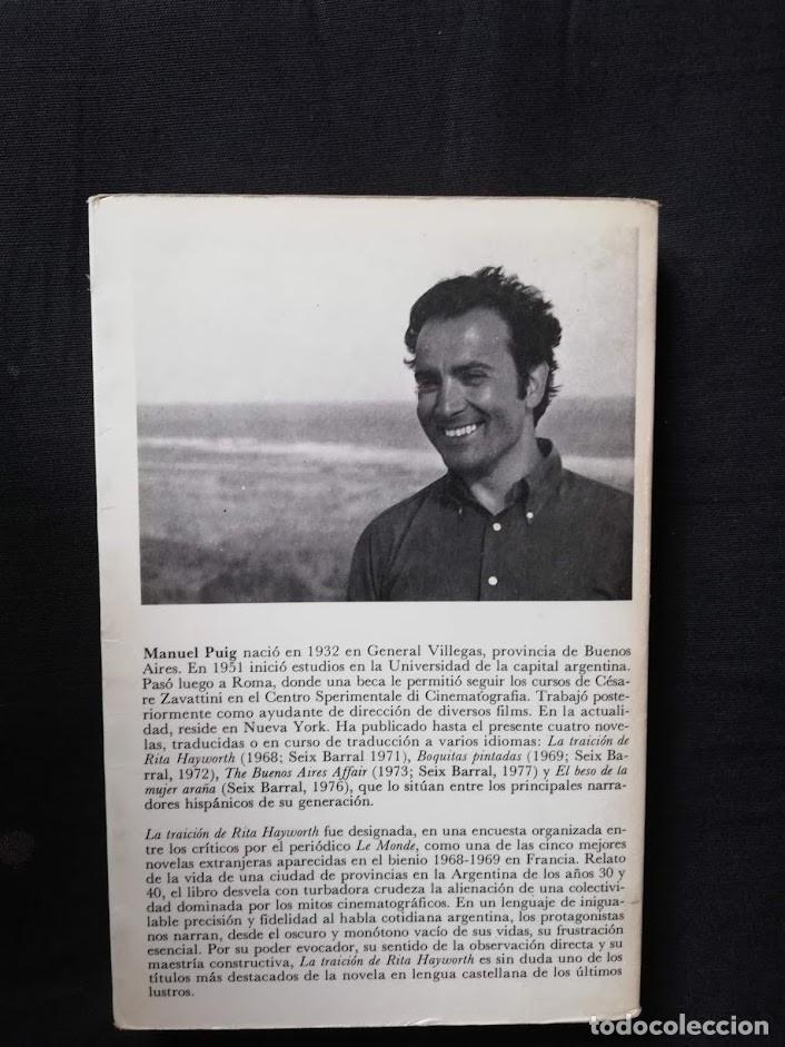 Libros de segunda mano: LA TRAICIÓN DE RITA HAYWORTH - MANUEL PUIG - Foto 2 - 205184410
