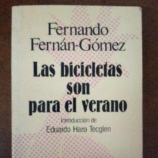 Libros de segunda mano: LAS BICICLETAS SON PARA EL VERANO (FERNANDO FERNAN-GOMEZ) ESPASA CALPE - SUB01J. Lote 205515056