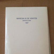 Libros de segunda mano: LLUÍS VENTÓS GALERIA EUDE BARCELONA 1987. Lote 206123731