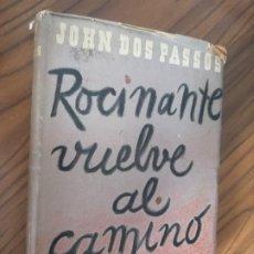 Libros de segunda mano: ROCINANTE VUELVE AL CAMINO. JOHN DOS PASSOS. SANTIAGO RUEDA, 1943. RÚSTICA. Lote 206789192