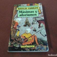 Libros de segunda mano: MÁXIMAS Y AFORISMOS - KHALIL GIBRAN - APB. Lote 206904518