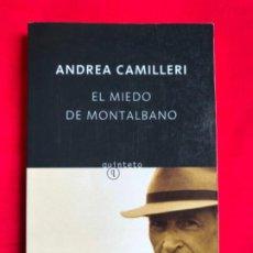 Libros de segunda mano: EL MIEDO DE MONTALBANO. ANDREA CAMILLERI. Lote 206950313