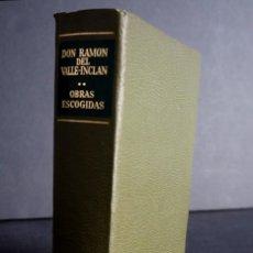 Libros de segunda mano: DON RAMON DEL VALLE INCLAN. OBRAS ESCOGIDAS. AGUILAR. 1974.. Lote 208403513
