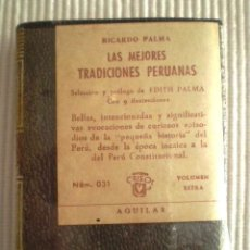 Libros de segunda mano: LAS MEJORES TRADICIONES PERUANAS (R. PALMA) CRISOLÍN 031 MARRÓN. 1970. PRECINTADO DE ORIGEN. Lote 209164721