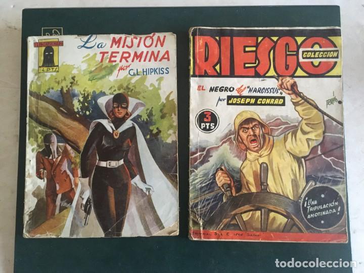 NOVELA EL ENCAPUCHADO,Nº 24 DE 1947 Y RIESGO COLECCION EL NEGRO DEL NARCISSUS, DE JOSEPH CONRAD 1944 (Libros de Segunda Mano (posteriores a 1936) - Literatura - Narrativa - Otros)