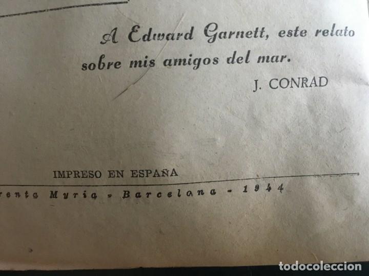 Libros de segunda mano: novela el encapuchado,nº 24 de 1947 y riesgo coleccion el negro del narcissus, de joseph conrad 1944 - Foto 3 - 209826493