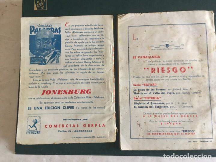 Libros de segunda mano: novela el encapuchado,nº 24 de 1947 y riesgo coleccion el negro del narcissus, de joseph conrad 1944 - Foto 4 - 209826493