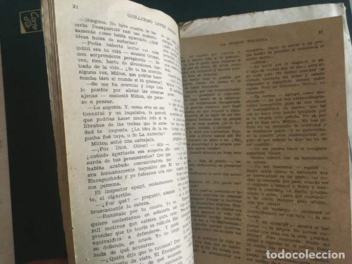 Libros de segunda mano: novela el encapuchado,nº 24 de 1947 y riesgo coleccion el negro del narcissus, de joseph conrad 1944 - Foto 6 - 209826493