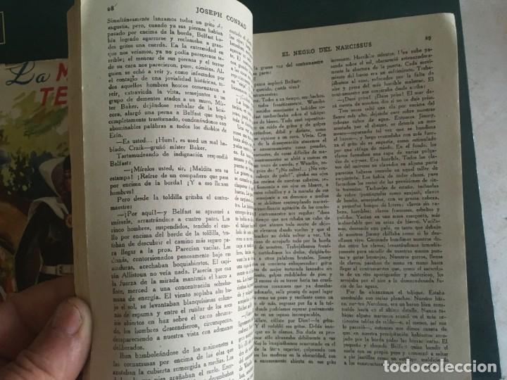 Libros de segunda mano: novela el encapuchado,nº 24 de 1947 y riesgo coleccion el negro del narcissus, de joseph conrad 1944 - Foto 7 - 209826493