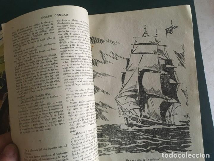 Libros de segunda mano: novela el encapuchado,nº 24 de 1947 y riesgo coleccion el negro del narcissus, de joseph conrad 1944 - Foto 8 - 209826493