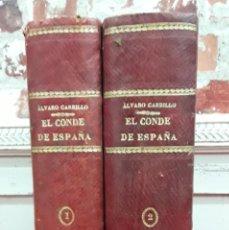 Libros de segunda mano: EL CONDE DE ESPAÑA (LA INQUISICIÓN MILITAR). NOVELA HISTÓRICA CONTEMPORÁNEA. 2 TOMOS (1890?). Lote 210386453