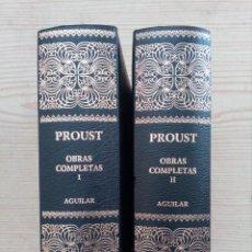 Libros de segunda mano: MARCEL PROUST - OBRAS COMPLETAS - 2 TOMOS - 2004 - AGUILAR. Lote 210561843