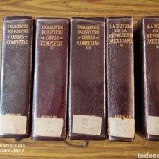 Libros de segunda mano: F. MIJAILOVICH DOSTOYEVSKI OBRAS COMPLETAS, LA NOVELA DE LA REVOLUCIÓN MEXICANA. Lote 210633849